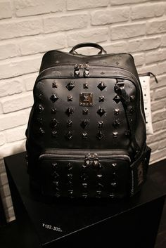 studded. #mcm #backpack #bag