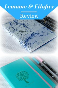 Notebook review, Lemome and Filofax. Bullet journal, dotted pages.