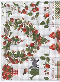Anchor strawberry Booklet of Cross Stitch Fruit, Cross Stitch Kitchen, Cross Stitch Needles, Cross Stitch Pictures, Cross Stitch Heart, Cross Stitch Borders, Cross Stitch Samplers, Cross Stitch Flowers, Cross Stitch Designs