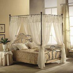 arredare una camera da letto romantica - letto a baldacchino ... - Camera Da Letto Baldacchino