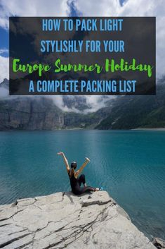 Packing for a summer holiday? Here's a perfect minimalist packing list for women who want to pack light yet stylishly. Click to read my complete guide to the amount of clothing, toiletries, and backpack + day bag now. #Summerpackinglist #Womenpackinglist #backpackinglist Summer Packing Lists, Packing List For Travel, Packing Tips, Cinque Terre, Smash Book, Italy Travel, Travel Usa, Travel Europe, Germany Travel
