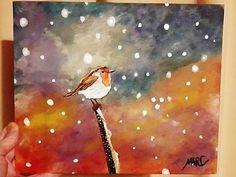 Easy Acrylic Painting | Simple Mama Bird Sunset | The Art Sherpa - YouTube