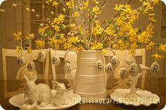 Pottery Barn Knock-Off Easter Egg Tutorial (table centerpiece)