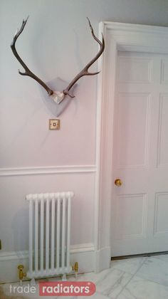 Mrs Carragher's Premier 2 Column Classic from Trade Radiators Column Radiators, Own Home, Clock, Classic, Cover, House, Home Decor, Watch, Derby