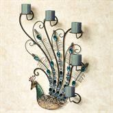 Peacock Wall Candelabra $89.99 www.allthingspeacock.com - Peacock Candles