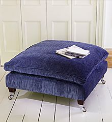This Classic #ParkerKnoll footstool reminds me of carpets of bluebells in the woods in spring