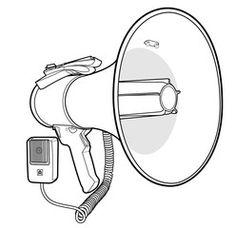 Megaphone Speaker vector illustration flat sketches template