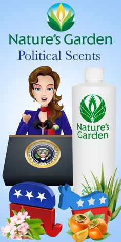 Natures Garden has taken the common personality traits of both Democrat and Republicans and created unique scents. We also designed a Madam President Scent. #PoliticalScents