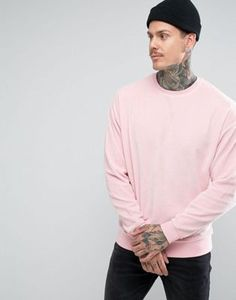 ASOS Oversized Velour Sweatshirt