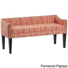 Whitney Long Upholstered Bench with Arms and Nailhead Trim                                                                                                                                                                                 More