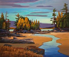 outgoing tide – oil on canvas – by Nicholas Bott. Abstract Landscape, Landscape Paintings, Abstract Art, Canadian Painters, Canadian Artists, Naive, Art Studies, Western Art, Land Scape