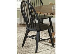 Shop for Liberty Furniture Windsor Back Side Chair - Black, 482-C1000S, and other Dining Room Chairs at Trivett's Furniture in Fredericksburg, VA. Take time to sit back and repose in this stylish chair as it provides comfort and looks without sacrificing function. A versatile build and attractive aesthetics come together in accord to create a must-have chair.