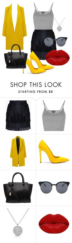 """""""Yellow"""" by dzenita-219 on Polyvore featuring moda, Topshop, Ninalilou, Quay i Winky Lux"""