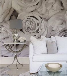 designed residence in the Hamptons gray wall mural - oh, but I love this!gray wall mural - oh, but I love this!