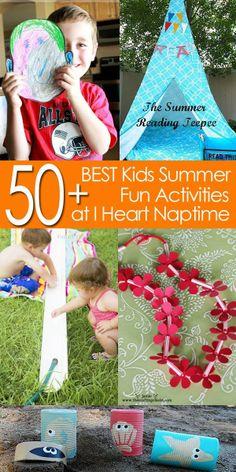 50  of the BEST Kids Summer Fun Activities I Heart Nap Time   I Heart Nap Time - How to Crafts, Tutorials, DIY, Homemaker
