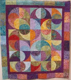 Batiks In Motion, 50 x 58, by Karen Springsteen.  at: Quilt Inspiration: Voices in Cloth 2010 Show