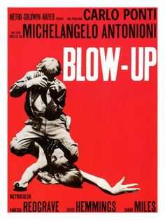 1960s movies | AP1283 - Blow Up Movie Poster, 1960s (30x40cm Art Print)