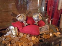 chest with goblets