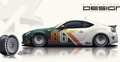 Car Stickers, Car Decals, Car Folie, Car Wrap Design, Vinyl Wrap Car, Vehicle Signage, Racing Car Design, Ae86, Cool Sports Cars