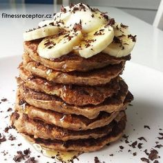 Quinnové lívance s banánem Quinoa, Sweet Recipes, Pancakes, Health Fitness, Breakfast, Food, Morning Coffee, Eten, Health And Fitness