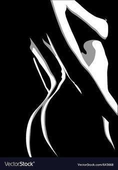 Cartoon Silhouette, Silhouette Painting, Sexy Drawings, Art Drawings Sketches Simple, Transférer Des Photos, Female Art, Female Drawing, Black And White Art Drawing, Deep Art