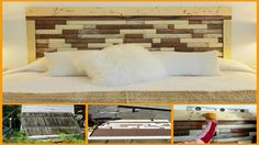 DIY Reclaimed Picket Fence Headboard