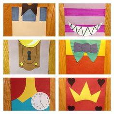 simplified Alice in Wonderland themed door decs! #RA