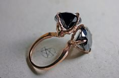 conjoined. rose gold vermeil twin sparrow claw ring.  -So Unique-