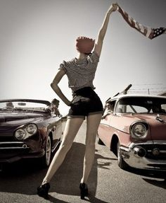pin-up and cars