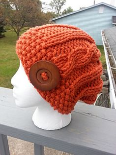 "Orange ""Pumpkin Seeds"" Hat"