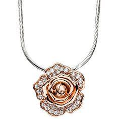 """Dreambase Damen-Halskette mit Anhänger """"Blume"""" rhodiniert... https://www.amazon.de/dp/B01HSRHR7G/?m=A37R2BYHN7XPNV"""