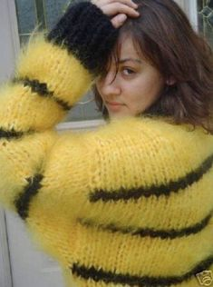 Mohair Sweater, Wool, Knitting, Jumpers, Crochet, Sweaters, Passion, Yellow, Dresses