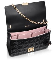 2ca7a3f8a92a1f Miss Dior Bag in Black Leather with Gold-Tone Chain (inside) Sac Cuir