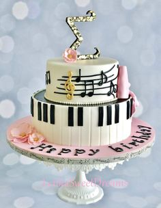 Great Image of Piano Birthday Cake - cake design - For Life Food Music Birthday Cakes, Music Themed Cakes, Music Cakes, Themed Birthday Cakes, Birthday Cake Design, Birthday Signs, Teen Birthday, Happy Birthday, Pretty Cakes