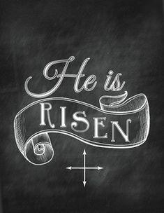 Chalkboard Easter Printables