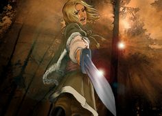 APH Poland by Noive.deviantart.com on @deviantART - One of my favourite pictures of Feliks, because the perspective is so well done. Seriously, I'm impressed by the foreshortened sword!