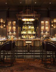 Velvet bar Stools for Hotel Interior Decor Ideas. See more: http://www.brabbu.com/en/inspiration-and-ideas/