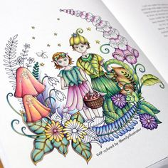 Ivy and the Inky Butterfly Colouring Pages, Adult Coloring Pages, Coloring Books, Johanna Basford Coloring Book, Markova, Coloring Tutorial, Illustrators On Instagram, Cute Wallpapers, Color Inspiration