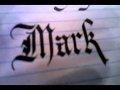 Insane Easy Calligraphy Lesson Part 1 - Gothic & Chancery - Write & Draw now!  Tutorial