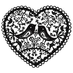 All sizes | Bird Heart papercut | Flickr - Photo Sharing!