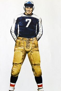 NFL Football Uniform 1930's by Merv Corning