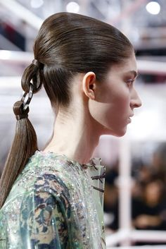 Dior Couture Spring 2015 Hair and Makeup - Backstage Beauty
