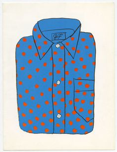 Illustration by Ivan Chermayeff. Love Illustration, Pattern Illustration, Graphic Design Illustration, Polka Dot Shirt, Polka Dots, Ivan Chermayeff, Illustrations Posters, Illustrators, Designer