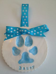 Dog Paw Print Tile - Paw print kit included