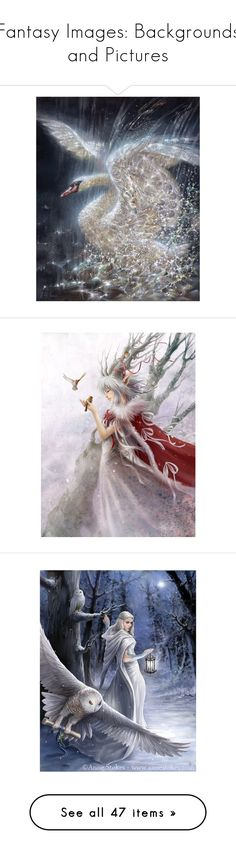 """""""Fantasy Images: Backgrounds and Pictures"""" by theshyfairy ❤ liked on Polyvore featuring backgrounds, home, home decor, wall art, angel wall art, dragon wall art, dragon home decor, fairies, people and dolls"""