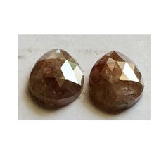 Matched Pair Rose Cut Dimaond Natural Diamond by gemsforjewels