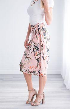 Amya Floral Wrap Skirt | Jane