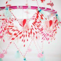 valentine's day polish chandelier