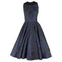 1950s Anne Fogarty Cotton Print Dress