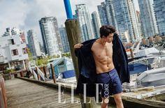 Taecyeon Shows Off His Summer-Ready Body for Elle Korean Star, Korean Men, Asian Men, Korean Actors, Asian Boys, Korean Celebrities, Asian Actors, Stylish Boys, Elle Magazine